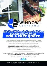 Modern, Elegant Flyer Design for JG Window Cleaning by ...