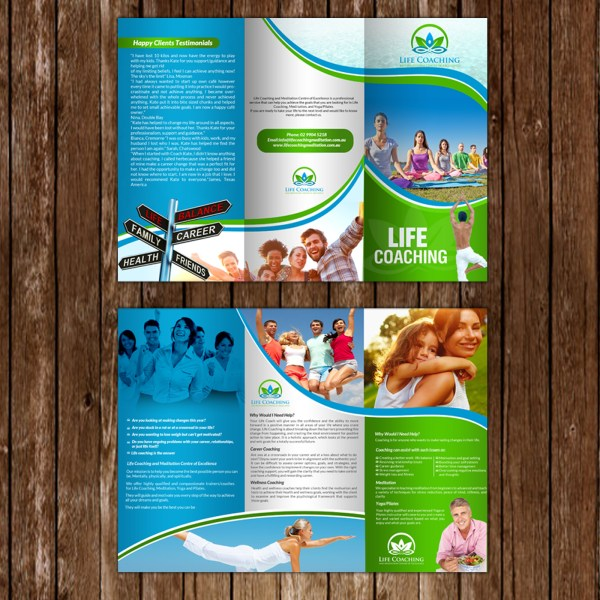 Elegant Traditional Life Coaching Flyer Design Business In Australia