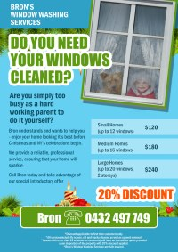 Window Cleaning Leaflet | Flyer Design Contest | Brief #328053