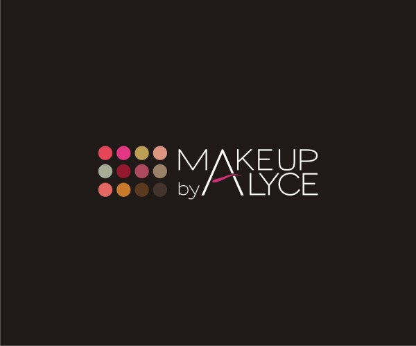Elegant Feminine Logo Design Makeup Alyce