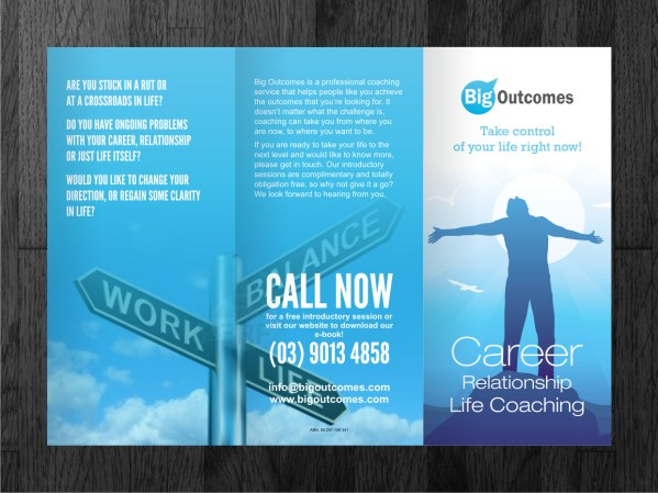 Modern Bold Life Coaching Flyer Design Business In Australia