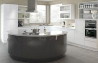 Handleless Europe kitchen doors in High Gloss White and ...