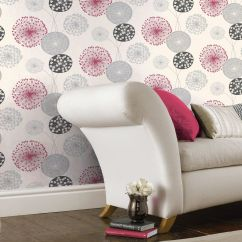 Living Room Wallpaper Bq Designer Swivel Chairs For B Q Lucienne Grey Red Floral