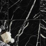 Black Marble Black Marble Wall Floor Tile Pack Of 5 L 305mm W 305mm