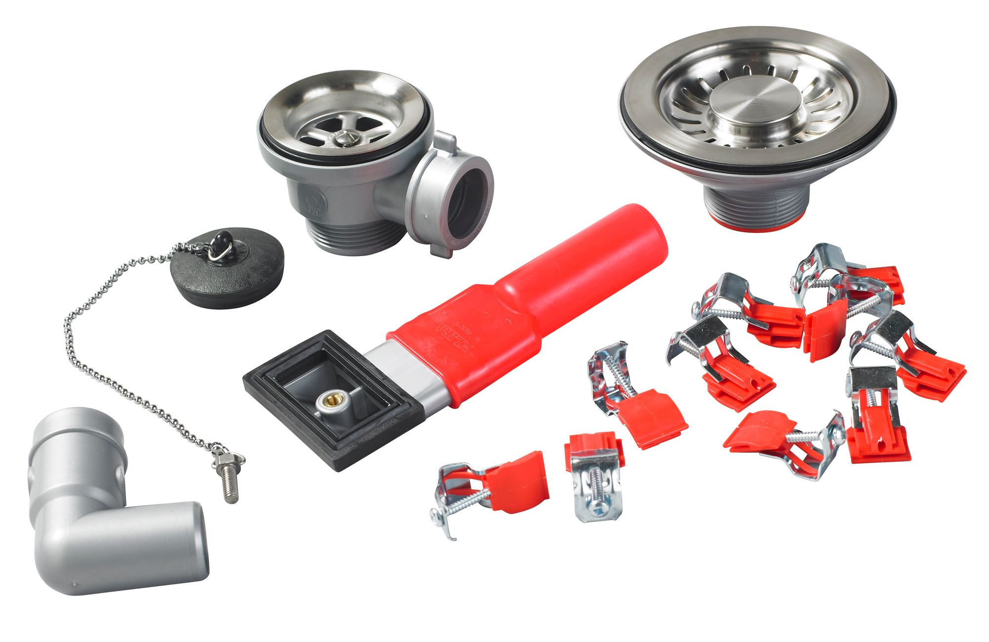 franke erica red silver sink fixing kit