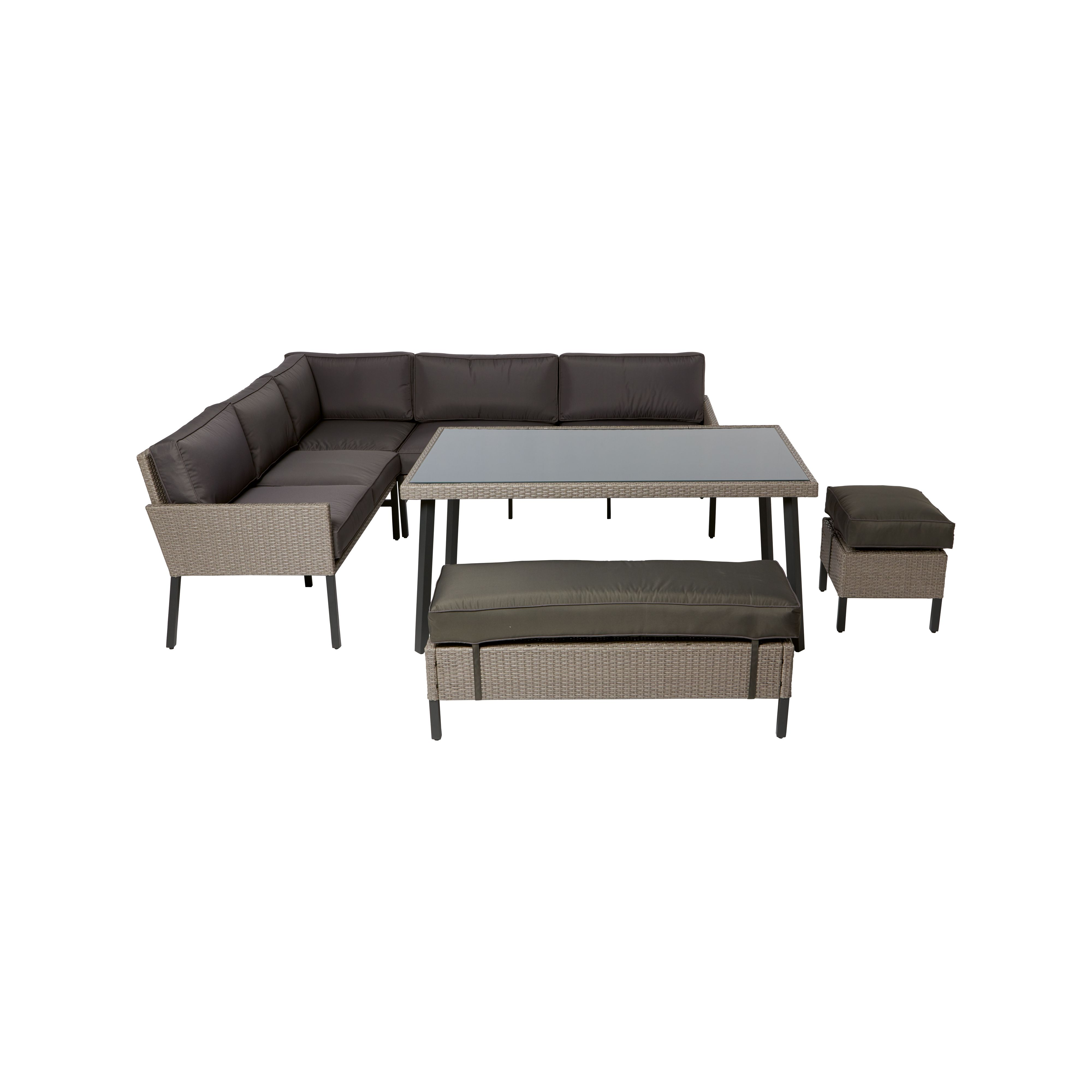palermo rattan effect corner sofa set cover grand island large 7 seat sectional