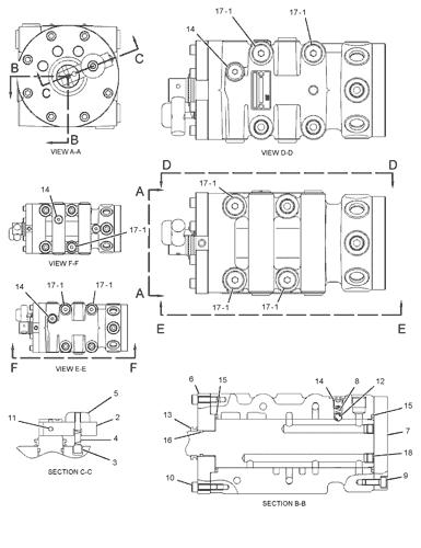 Cat Excavator Control Pattern Diagram : excavator, control, pattern, diagram, 454-6909, VALVE, AR-ALT, PATTERN, CONTROL, CE81-UP, 499-3931, COMMON, 308E2, EXCAVATOR, AVSpare.com