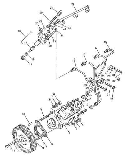 Perkins Diesel Fuel System Diagram : perkins, diesel, system, diagram, L779), STEER, LOADER, (7/80-7/83), (076), INJECTION, LINES,, PERKINS, 4.203.2, DIESEL, ENGINE, Holland, Constructuion