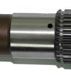 the one piece gm 700r4 output shaft used in this kit is made out of 4340 alloy steel this output shaft is manufactured with the highest quality materials  [ 3597 x 603 Pixel ]