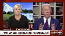 """""""I'm saying unequivocally, it never, never happened,"""" Biden said in an interview on MSNBC's """"Morning Joe"""" regarding sexual allegations against him by Tara Reade"""