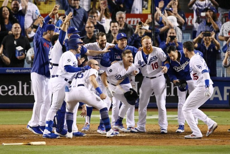 Image result for dodgers 2019 walk off