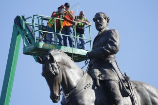 Plans to stop Virginia's governor Ralph Northam's administration from removing statue of Confederate Gen. Robert E. Lee