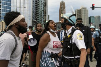 President Trump's efforts to increase his reelection chances plans to deploy federal agents to Chicago and other Democratic-run cities is stoking tensions and creating new images of violence