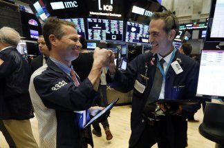 Dow Jones Industrial Average soared nearly 1300 points; strong hopes that central banks will act to shield global economy from virus outbreak