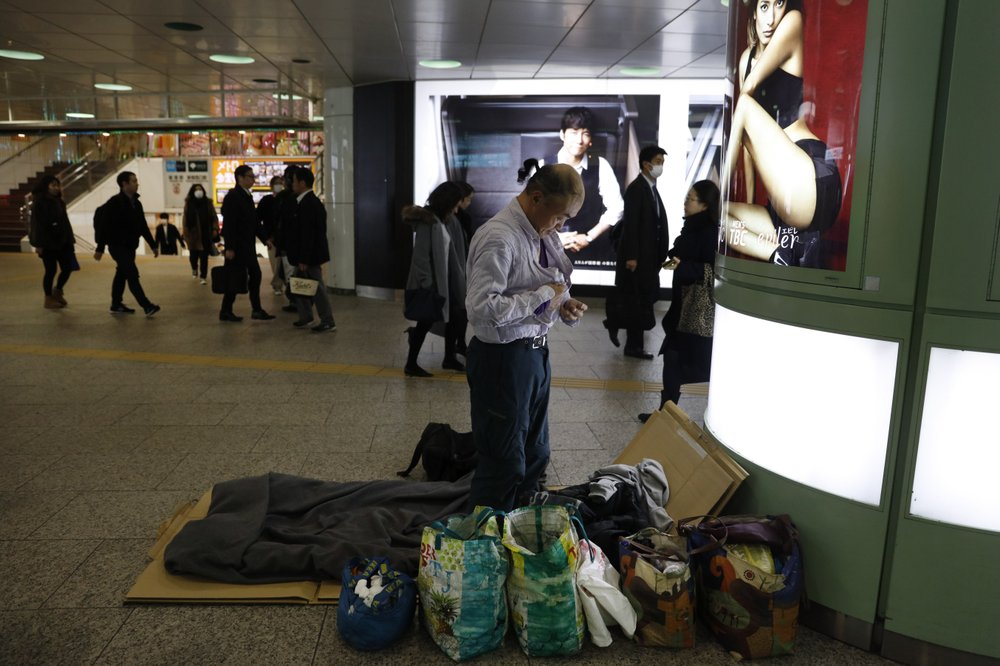 Downtown Tokyo S Homeless Fear Removal Ahead Of Olympics