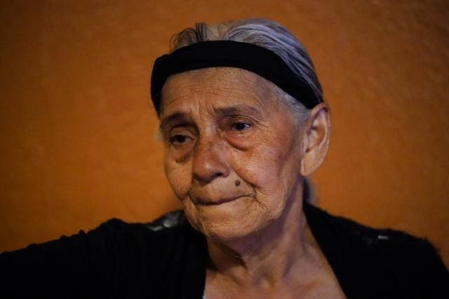 Amanda Breve, 75, speaks during an interview with The Associated Press in the Kensington section of Philadelphia, Sunday, May 16, 2021. (AP Photo/Matt Rourke)