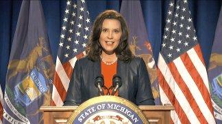 """that woman from Michigan"" — Gov. Gretchen Whitmer credits Biden"