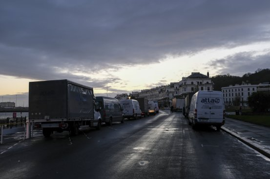 No Christmas Eve joy for truckers trapped in a UK virus jam