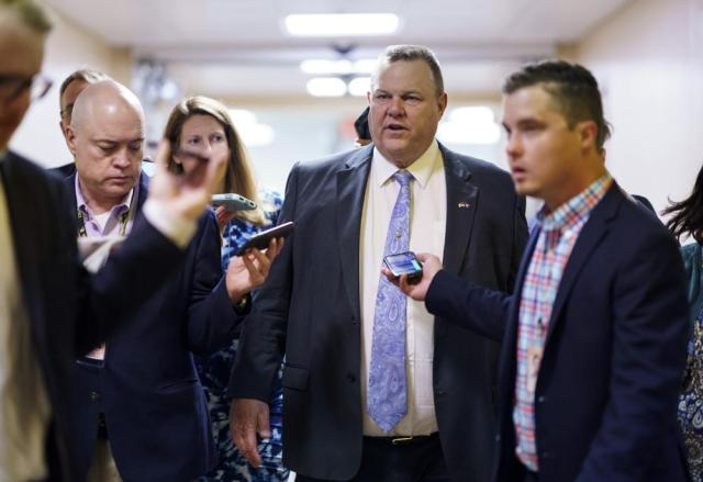 Sen. Jon Tester, D-Mont., a negotiator in the infrastructure talks, arrives for votes at the Capitol in Washington, Tuesday, July 13, 2021. Yesterday, Sen. Bernie Sanders, I-Vt., chair of the Senate Budget Committee, met at the White House with President Joe Biden to address roadblocks on on an infrastructure agreement. (AP Photo/J. Scott Applewhite)