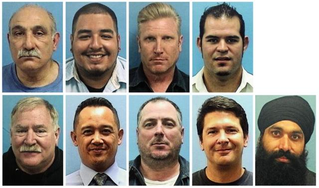 This combo of images provided by the Valley Transportation Authority shows the nine victims of a shooting at a VTA rail yard on Wednesday, May 26, 2021, in San Jose, Calif. Top row, from left, Abdolvahab Alaghmandan, Adrian Balleza, Alex Fritch, Jesus Hernandez III. Bottom row, from left, Lars Lane, Paul Megia, Timothy Romo, Michael Rudometkin and Taptejdeep Singh. (Valley Transportation Authority via AP)
