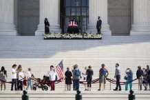 Hundreds of Mourners Pay Respects to Ruth Bader Ginsburg at Supreme Court