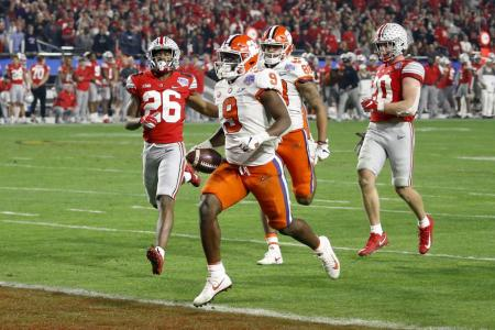 Clemson's Travis Etienne Thanks God After Setting NCAA Touchdown Record