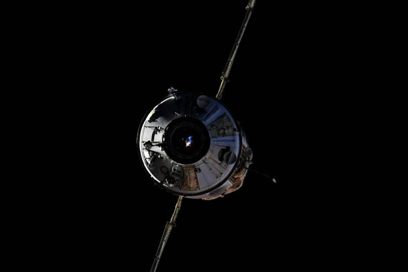 In this photo taken by Russian cosmonaut Oleg Novitsky and provided by Roscosmos Space Agency Press Service, the Nauka module is seen prior to docking with the International Space Station on Thursday, July 29, 2021. The newly arrived Russian science lab briefly knocked the International Space Station out of position Thursday when it accidentally fired its thrusters. For 47 minutes, the space station lost control of its orientation when the firing occurred a few hours after docking, pushing the orbiting complex from its normal configuration. The station's position is key for getting power from solar panels and or communications. Communications with ground controllers also blipped out twice for a few minutes. (Roscosmos Space Agency Press Service photo via AP)