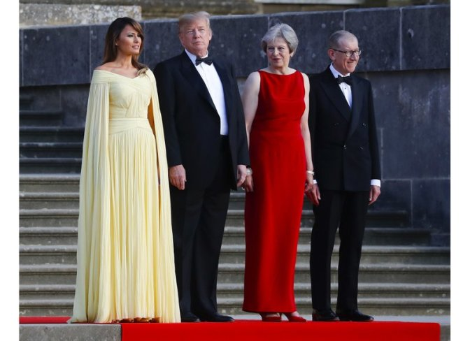 Donald Trump, Melania Trump, Theresa May, Philip May