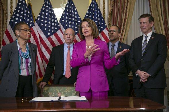 Nancy Pelosi, Eleanor Holmes Norton, Peter DeFazio, Anthony Brown, Don Beyer