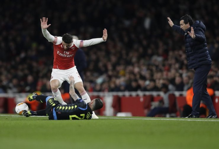 Image result for arsenal 2-0 napoli europa league 2019
