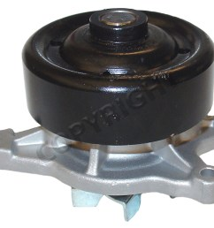 2006 toyota corolla engine water pump aw aw9376 [ 1500 x 1221 Pixel ]