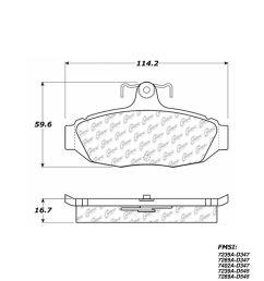 1990 ford thunderbird disc brake pad set ce 102 05450  [ 1200 x 1500 Pixel ]
