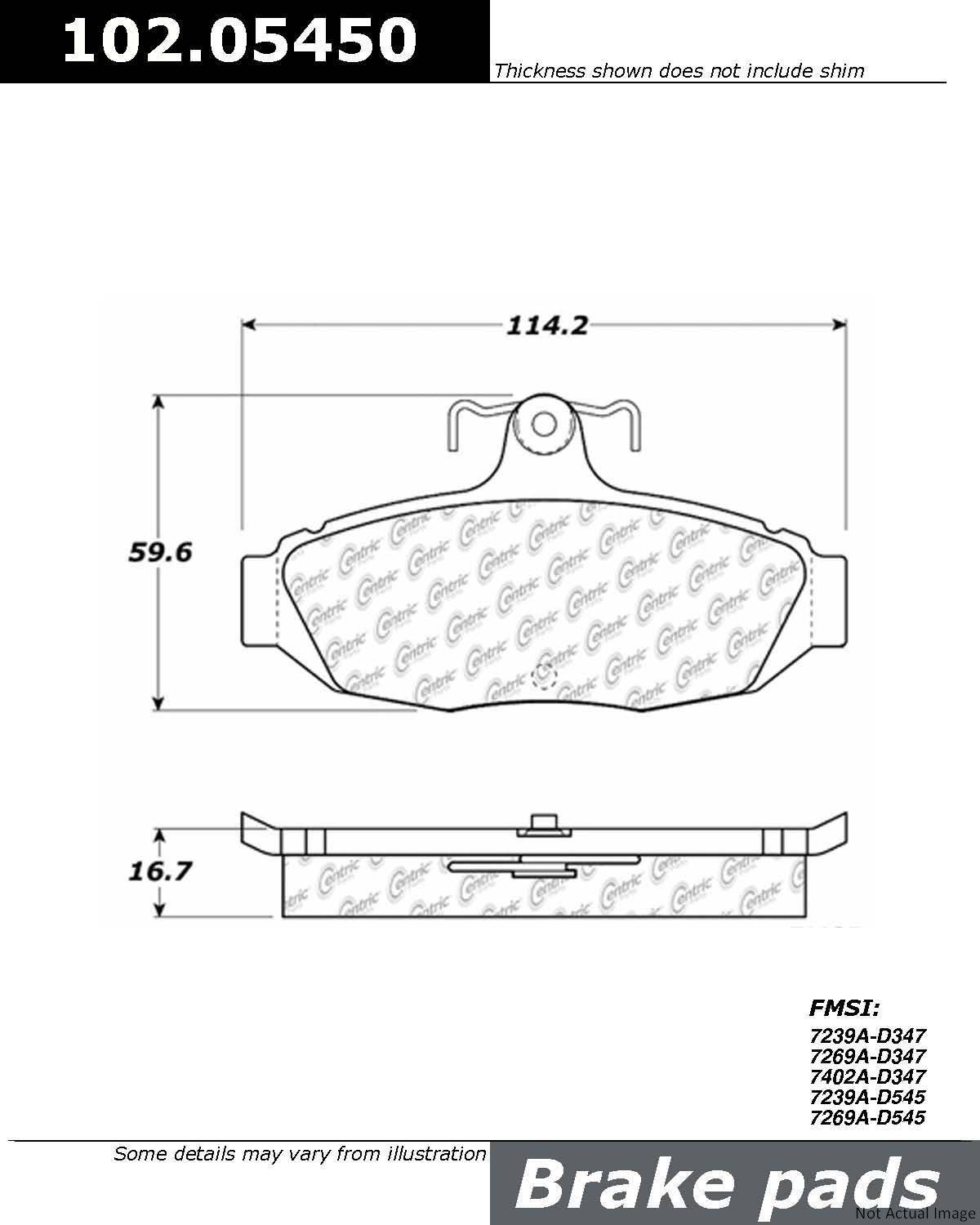 hight resolution of  1990 ford thunderbird disc brake pad set ce 102 05450