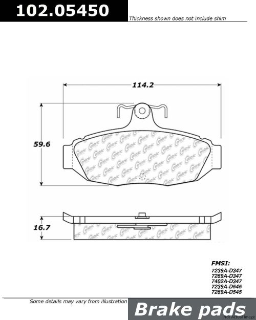 small resolution of  1990 ford thunderbird disc brake pad set ce 102 05450