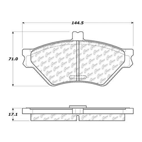 small resolution of 1995 lincoln town car disc brake pad set ce 102 06780