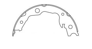 Replacement Parking Brake Shoe For 2015 Nissan Sentra