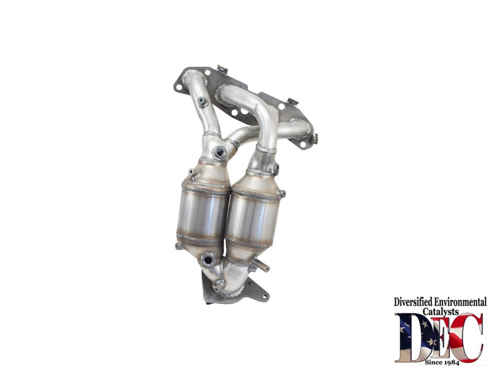 medium resolution of 2009 nissan sentra exhaust manifold with integrated catalytic converter dc nis2562