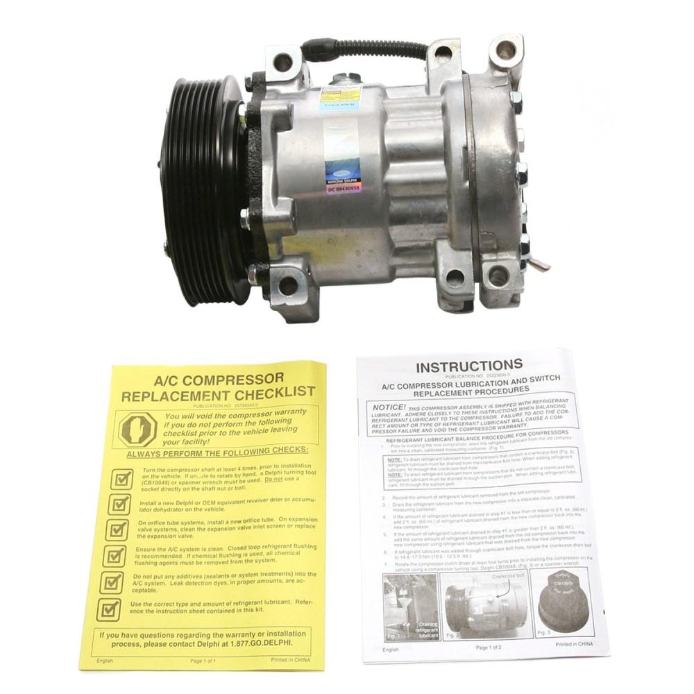 medium resolution of  1999 dodge durango a c compressor de cs20143