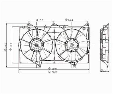 2006 Toyota Camry Dual Radiator and Condenser Fan Assembly