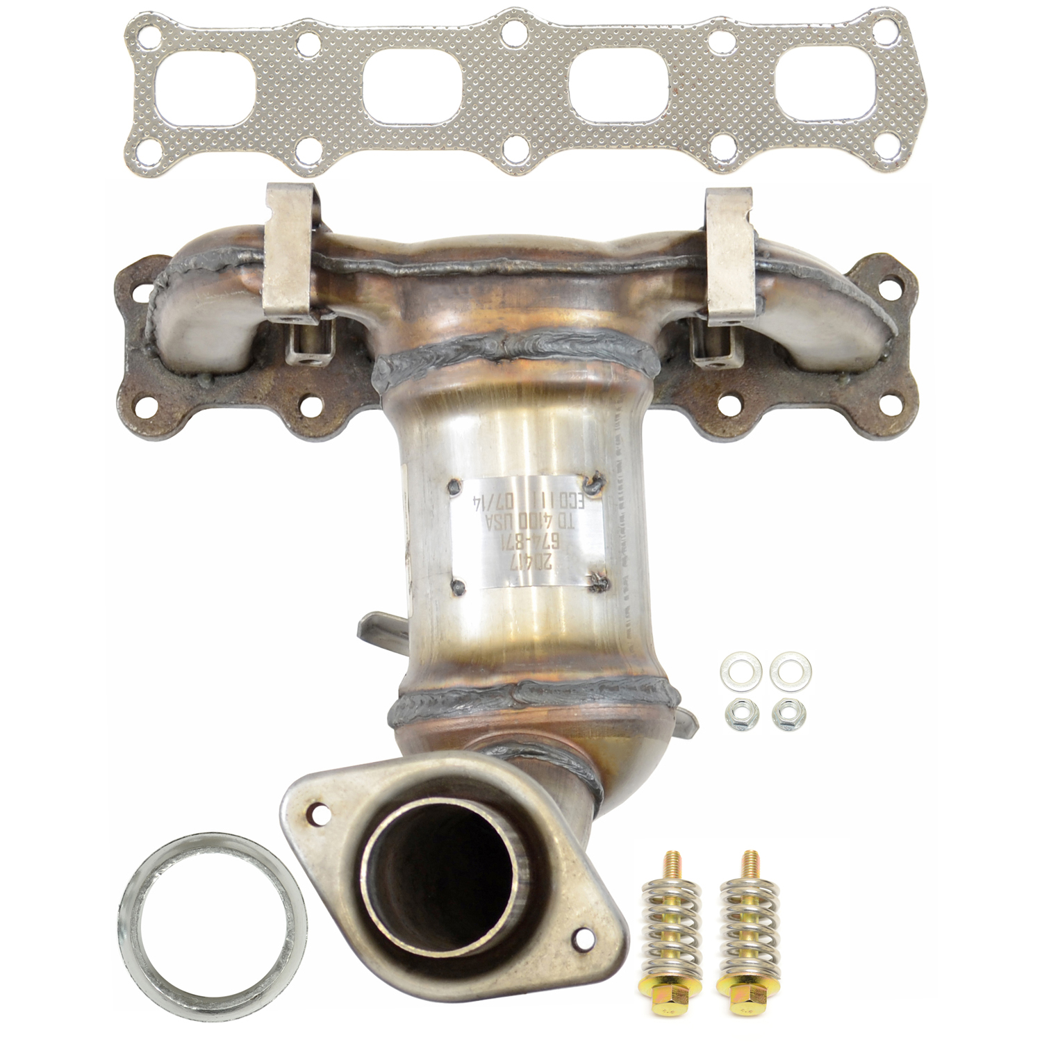 hight resolution of 2012 jeep patriot exhaust manifold with integrated catalytic converter autopartskart com
