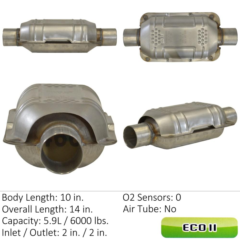 medium resolution of 1996 lexus es300 catalytic converter ea 83164