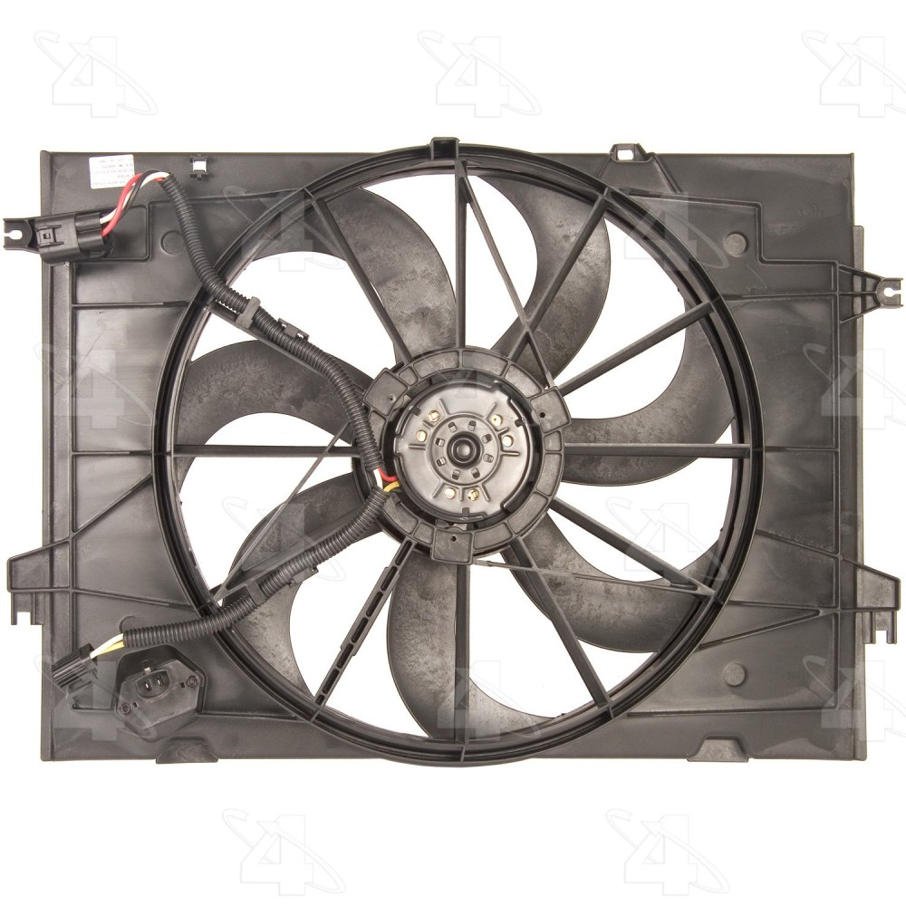 medium resolution of 2007 hyundai tucson engine cooling fan assembly fs 75637
