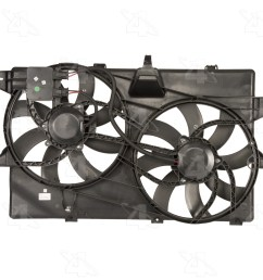 2008 lincoln mkx dual radiator and condenser fan assembly fs 76149 [ 1500 x 1500 Pixel ]