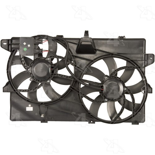 small resolution of 2008 lincoln mkx dual radiator and condenser fan assembly fs 76149