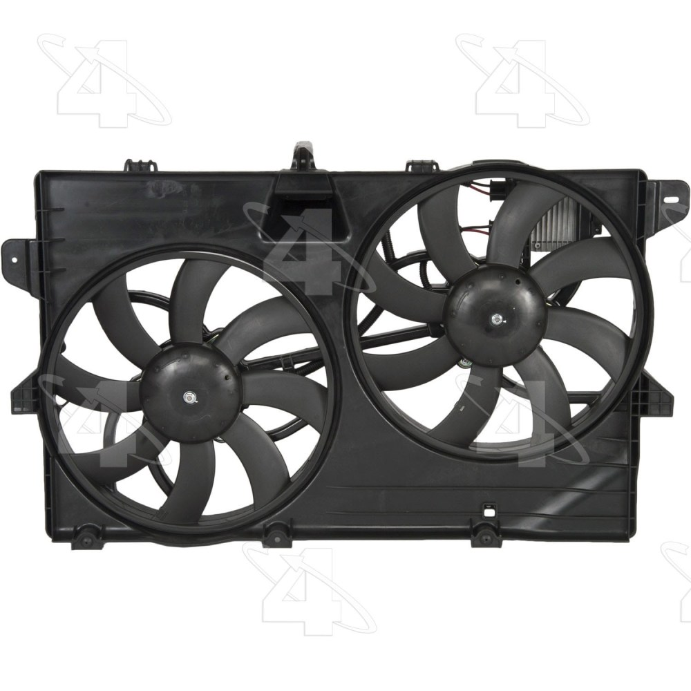 medium resolution of 2008 lincoln mkx dual radiator and condenser fan assembly fs 76149