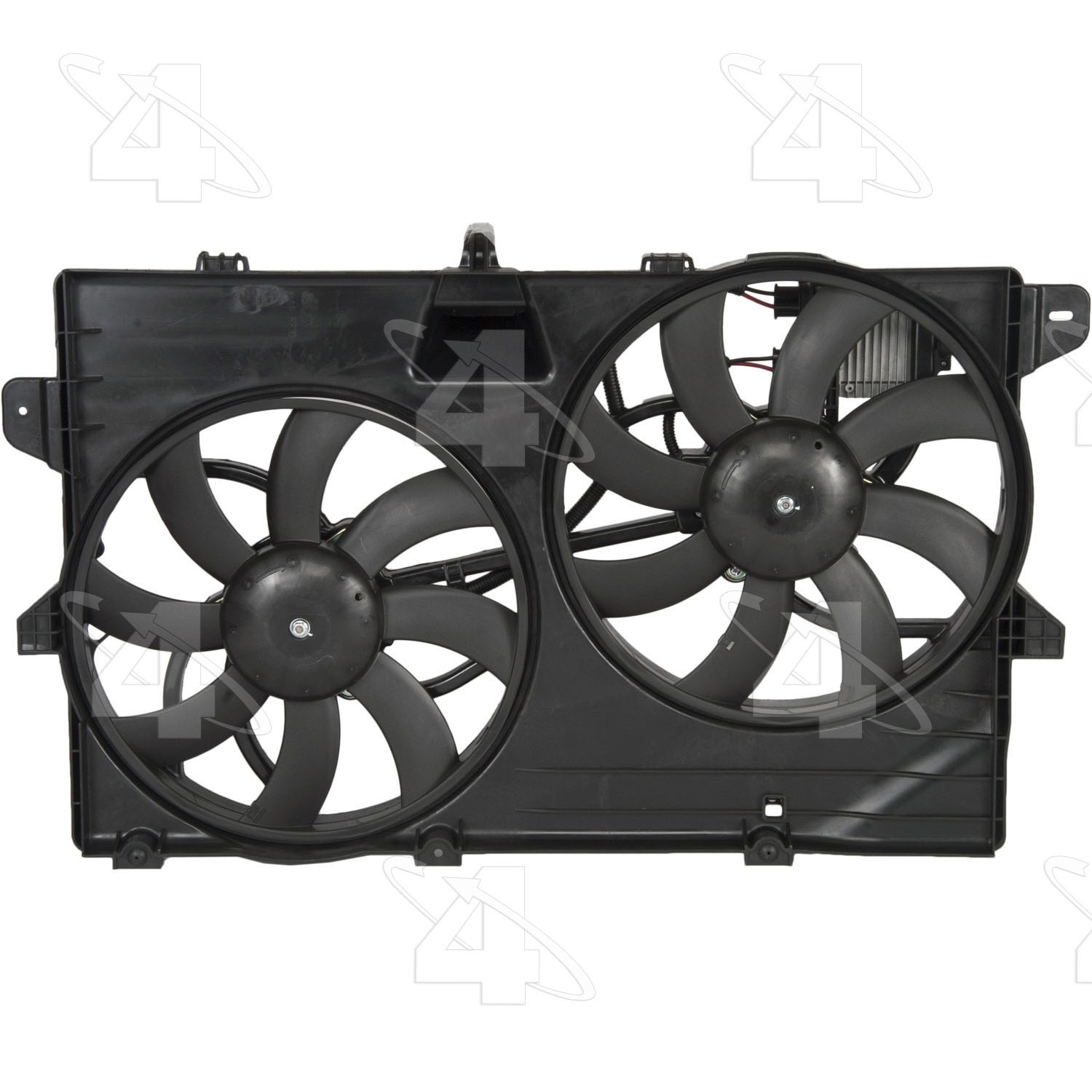 hight resolution of 2008 lincoln mkx dual radiator and condenser fan assembly fs 76149