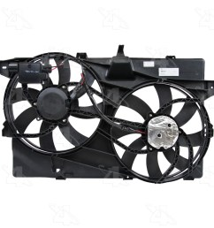 2008 lincoln mkx dual radiator and condenser fan assembly fs 76228 [ 1500 x 1500 Pixel ]