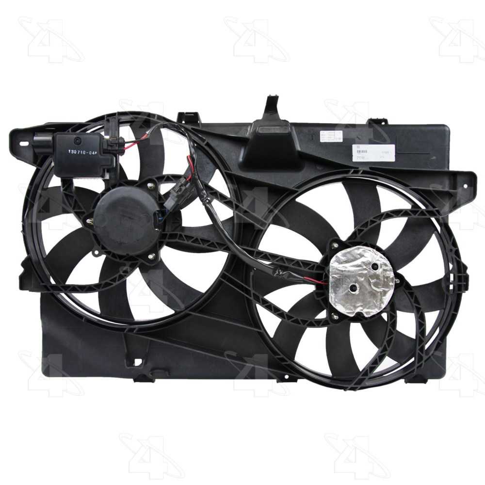 medium resolution of 2008 lincoln mkx dual radiator and condenser fan assembly fs 76228