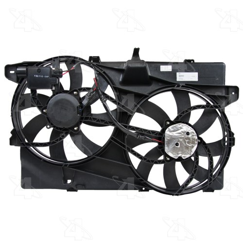 small resolution of 2008 lincoln mkx dual radiator and condenser fan assembly fs 76228