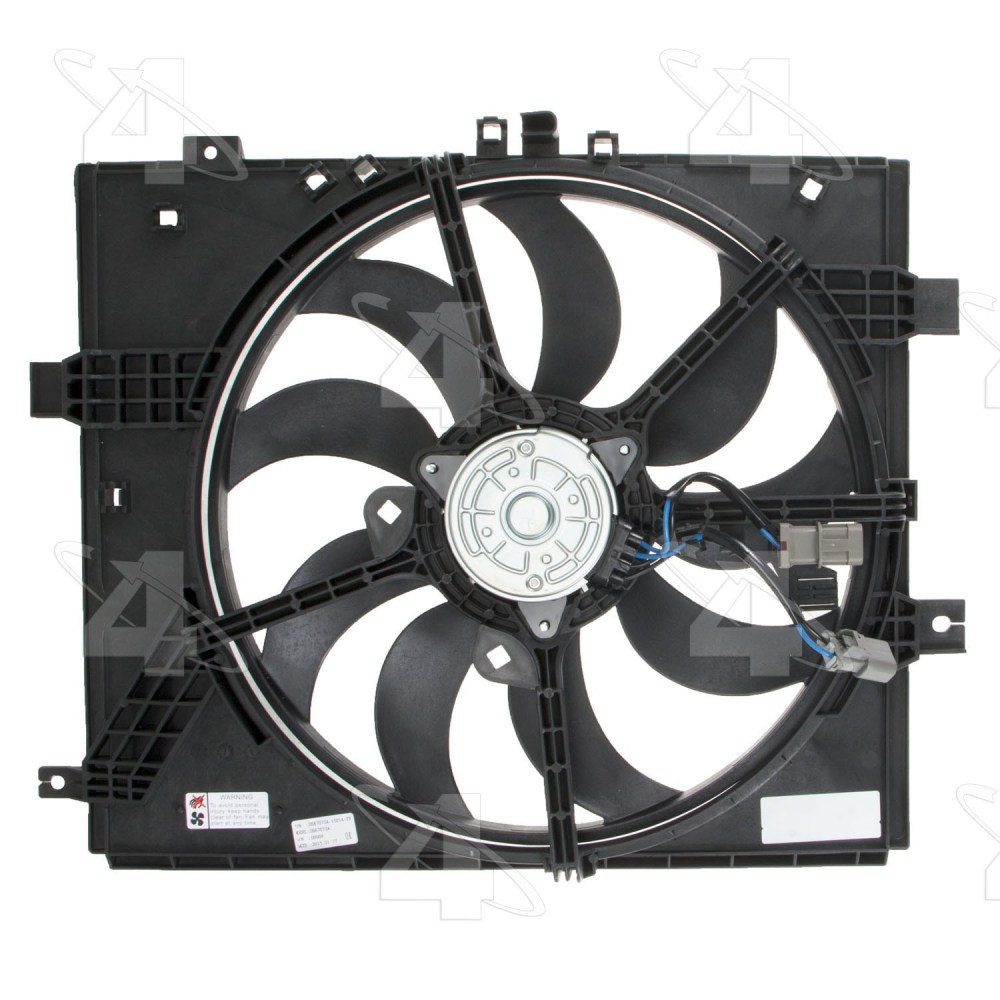 medium resolution of 2012 nissan versa engine cooling fan assembly fs 76278